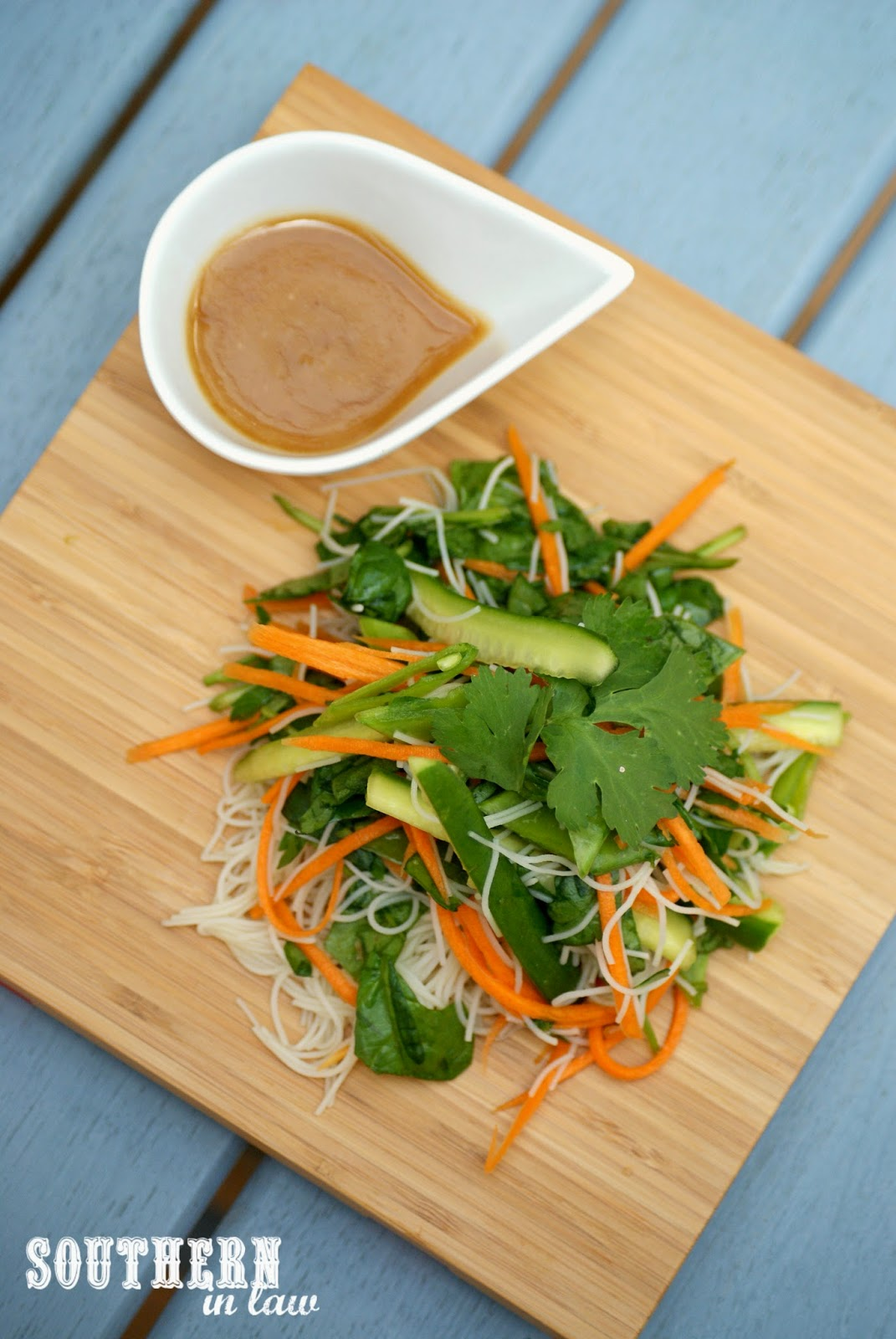 Asian Noodle Salad with Creamy Peanut Dressing Recipe - low fat, gluten free, clean eating friendly, vegan, vegetarian, easy salads, impressive side dishes