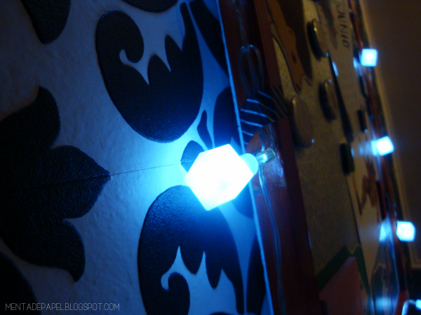 Luces navideñas a pilas (baterías)