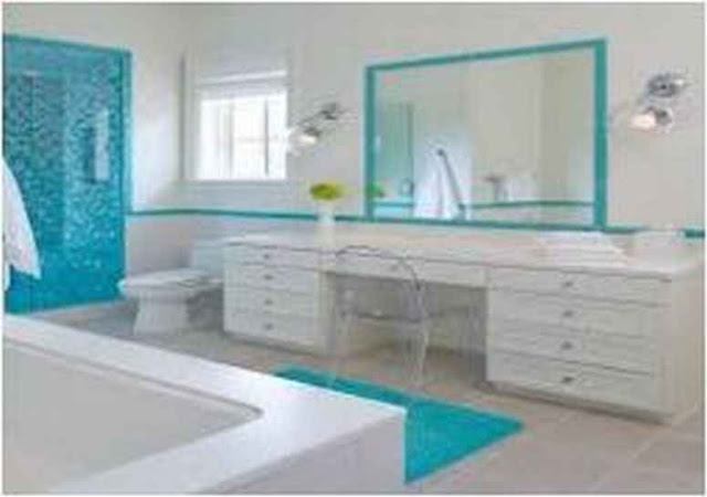 Ideas For Decorating A Bathroom With Blue Fixtures IF 12G