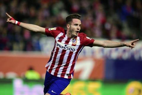 Saul đã tận dụng tốt chấn thương của Thiago để chiếm vị trí chính thức trong đội hình Atletico