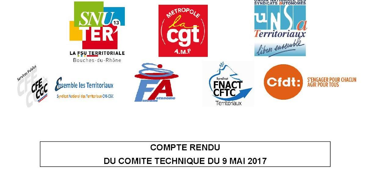CFDT AIX MARSEILLE PROVENCE METROPOLE : COMPTE RENDU DU