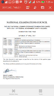 National Common entrance examinations date