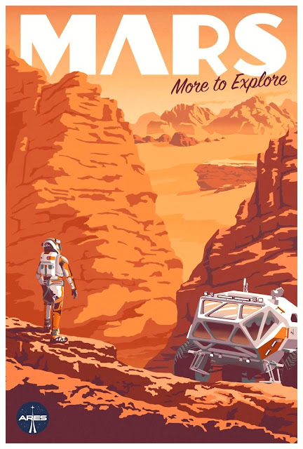 The Martian illustrated movie poster (rover)