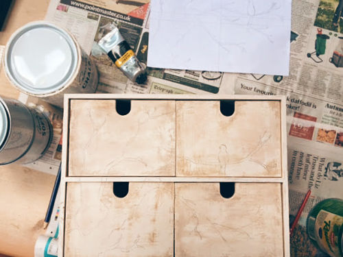 DIY shabby chic drawers