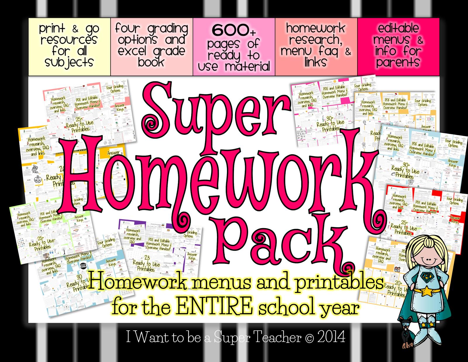 Homework Poster Printable