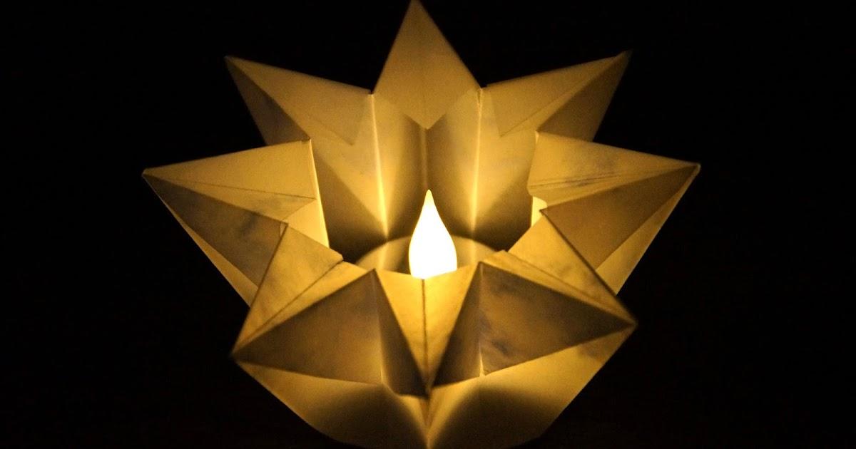 basteln und mehr windlicht stern basteln zu weihnachten origami sterne falten. Black Bedroom Furniture Sets. Home Design Ideas