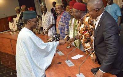 1b - Igbo Quit Notice: Kaduna state governor, Nasir El-Rufai meets Igbo leaders from 19 Northern states (photos)