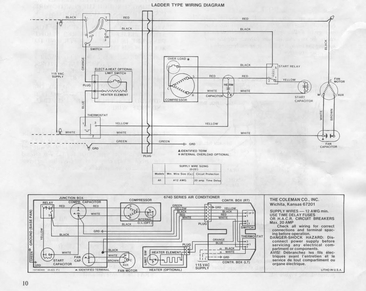 coleman columbia wiring diagram