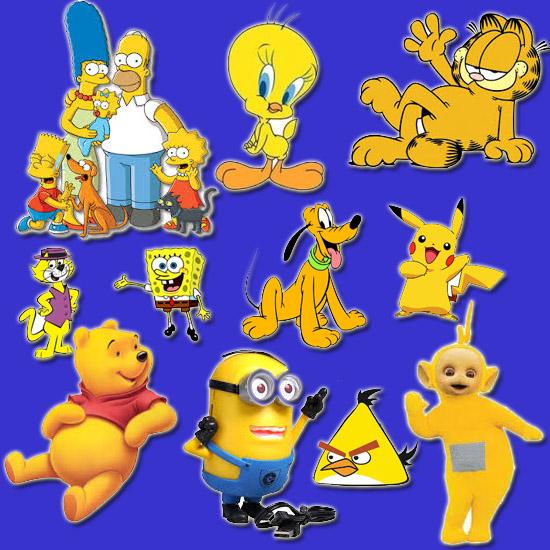 Personagens Amarelos de Desenhos Animados