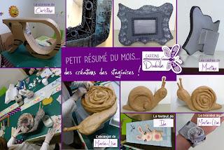 cours, ateliers, stage de création meuble et objets en carton et papier mâché par Cartons Dudulle