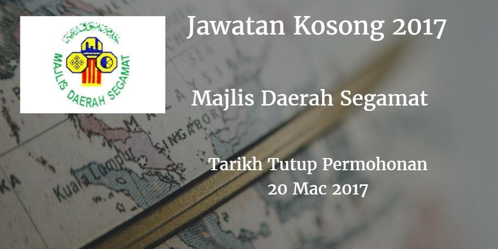 Jawatan Kosong MdSegamat 20 Mac 2017