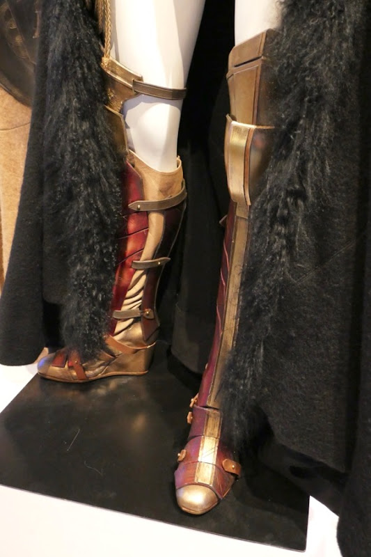 Wonder Woman costume boots detail