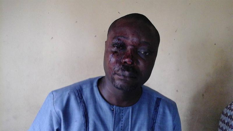 Ijaw Youths Council members brutalized by group's president Udengs Eradiri while on-air in Bayelsa