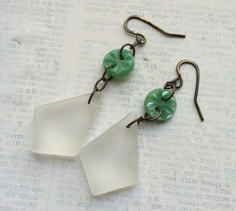 Crafty hope march 2017 while i didnt get much further than this on monday i did get some ideas i put these button and sea glass earrings solutioingenieria Gallery