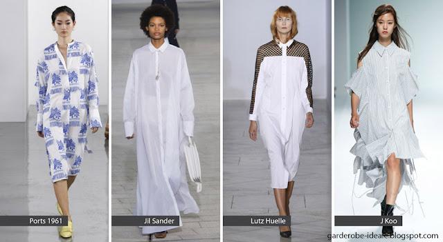 Платья рубашки оверсайз на подиуме весна-лето 2018