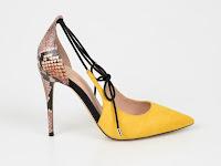 Pantofi ALDO galbeni, Realonna, din piele ecologica