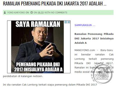 Ramalan Pilkada Jakarta DKI Jakarta 2017