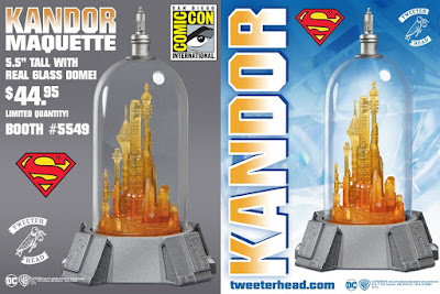 San Diego Comic-Con 2017 Exclusive Superman Bottle City of Kandor Maquette Statue by Tweeterhead x DC Comics