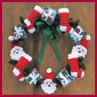 Guirnalda Navidad crochet