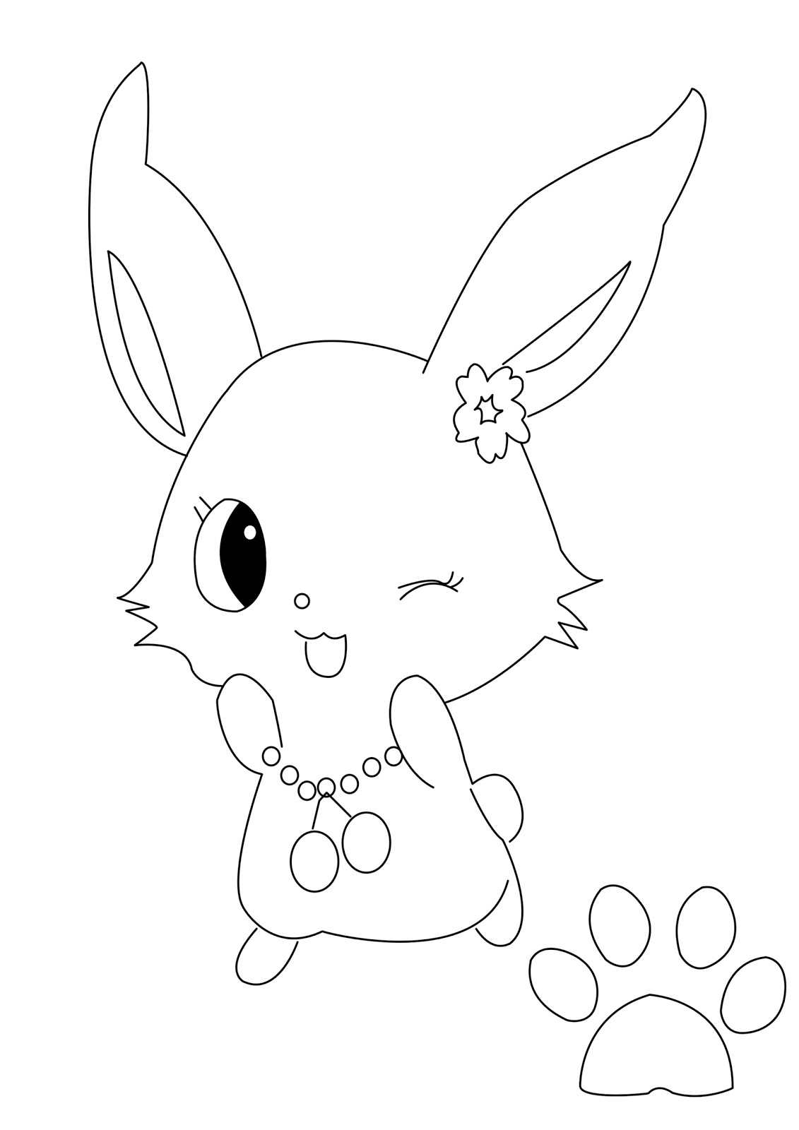 Jewel Pet Coloring Pages Sparkling Ribbon