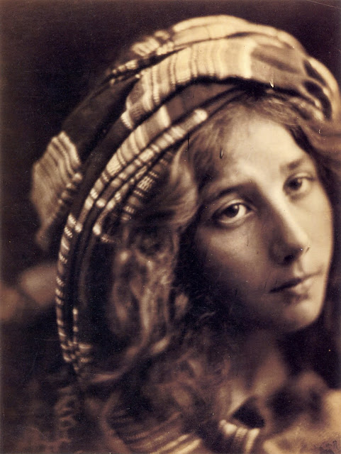 "Beatrice Cenci. Model is Kate Keown. May 1868. Albumen print, 327 x 246mm (12 7/8 x 9 5/8""). Scanned from Colin Ford's Julia Margaret Cameron: 19th Century Photographer of Genius. Originally from The J. Paul Getty Museum, Los Angeles. In Photos: Remembering Celebrity Photographer Julia Margaret Cameron, history of photography, vintage photos, photography news, photography"