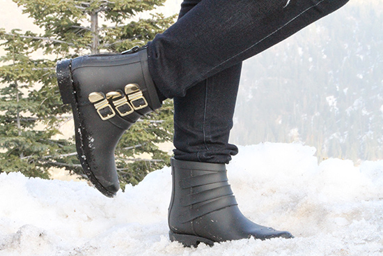 Loeffler Randall Fenton Black Boots Mountain Cabin Outfit