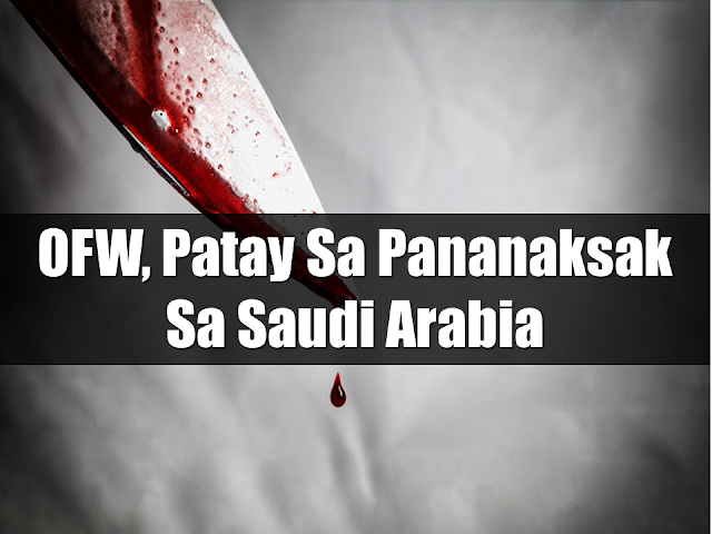 The Philippine Consulate General in Jeddah, Saudi Arabia confirmed that a 53-year-old OFW named Nasser Musa was stabbed to death by another expatriate.  Once the report was received, case officers were immediately sent to the place of the incident but they found the dead body of the victim inside a car.  Advertisement        Sponsored Links      Consul General Edgar Badajos said that the victim sustained five fatal stab wounds to his body. The suspect, nationality not specified, is already arrested and is now under the custody of the authorities. Badajos added that they are already coordinating with the bereaved family of the OFW who hailed from Lanao Del Sur and was working in Saudi Arabia as a merchandiser/driver. Badajo assures that hey will bring the death of the OFW to justice.   Musa's remains were sent to Al Noor Specialist Hospital in Makkah, over two hours drive from the Philippine Consulate in Jeddah.  READ MORE: List of Philippine Embassies And Consulates Around The World    Classic Room Mates You Probably Living With   Do Not Be Fooled By Your Recruitment Agencies, Know Your  Correct Fees    Remittance Fees To Be Imposed On Kuwait Expats Expected To Bring $230 Million Income    TESDA Provides Training For Returning OFWs   Cash Aid To Be Given To Displaced OFWs From Kuwait—OWWA    5 Signs A Person Is Going To Be Poor And 5 Signs You Are Going To Be Rich