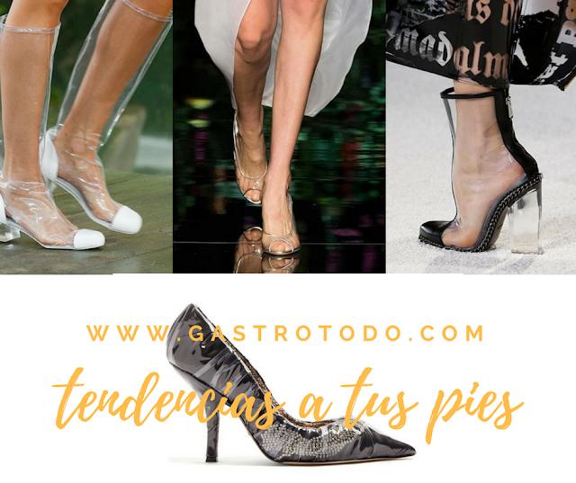 Dejar ver tus pies con estilo y transparencias.
