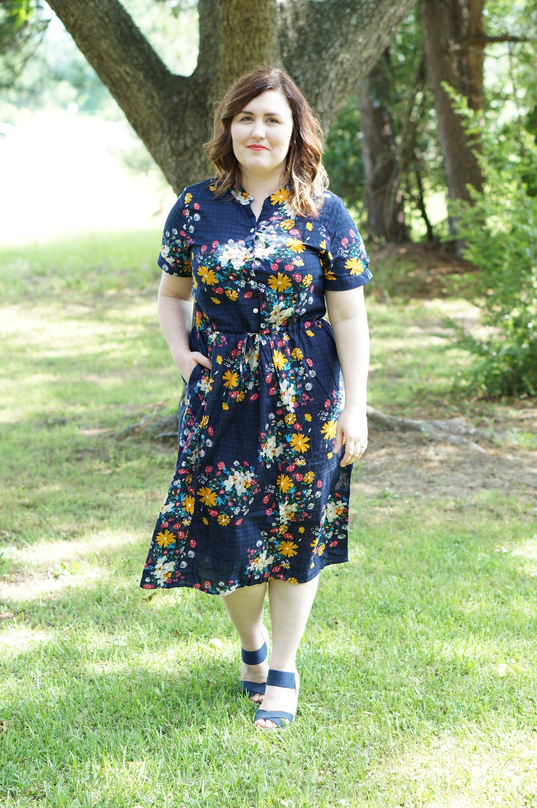 Rebecca Lately Zaful Floral Vintage Dress Target Navy Wedges Marc Jacobs Beauty Cora Cora