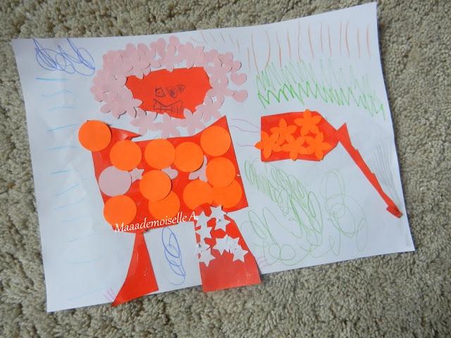 || Activité : Créer un gentil monstre coloré avec des perforatrices et du découpage/collage (L'art est un jeu d'enfant # 4)