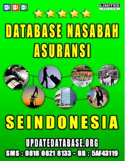 Jual Database Nasabah Asuransi Seindonesia