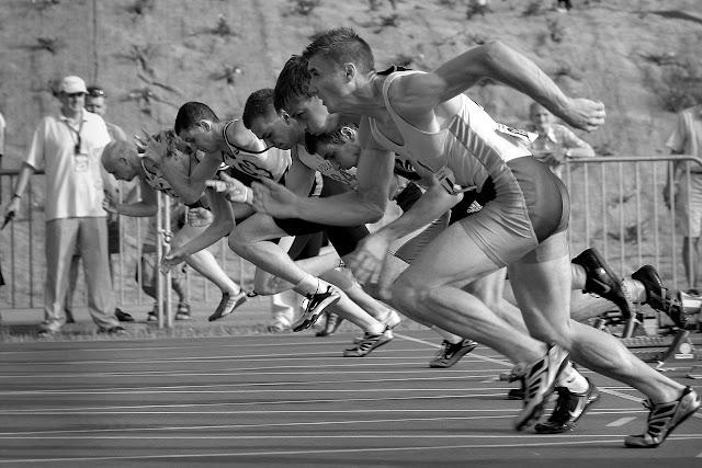 Sprinters, runners, foot race, racing