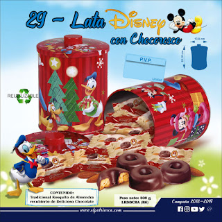 Lata Disney con Chocoroscos El Patriarca 400 g - Comercial H. Martin sa