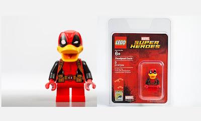 San Diego Comic-Con 2017 Exclusive Deadpool Duck Marvel LEGO Mini Figure