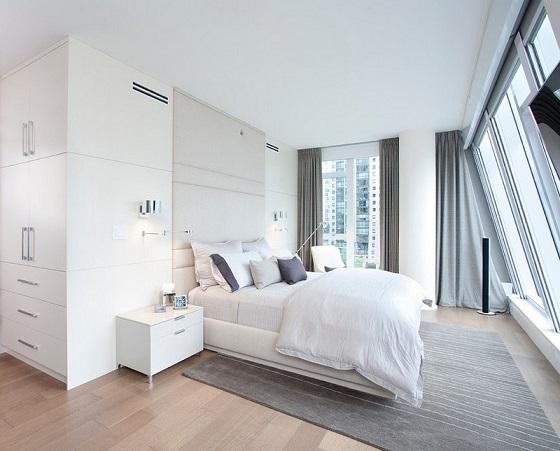 10 dormitorios modernos en color blanco dormitorios for Habitacion lila y blanca