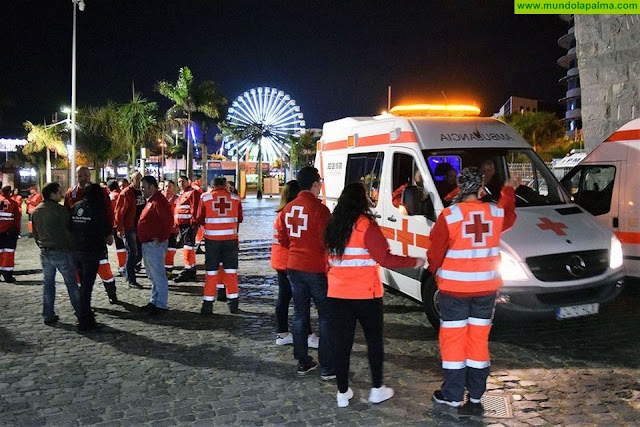 Cruz Roja presta sus servicios sociosanitarios en 15 municipios de la provincia tinerfeña durante el Carnaval