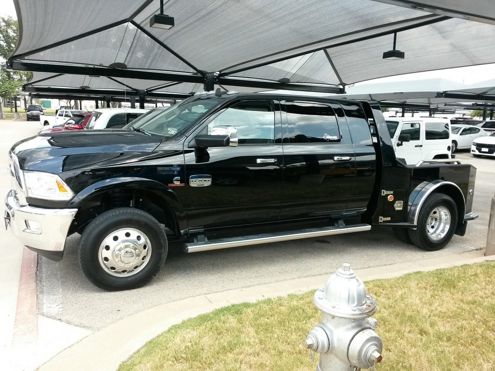 New Black 2015 Ram 3500 Laramie Longhorn Mega Cab 4x4