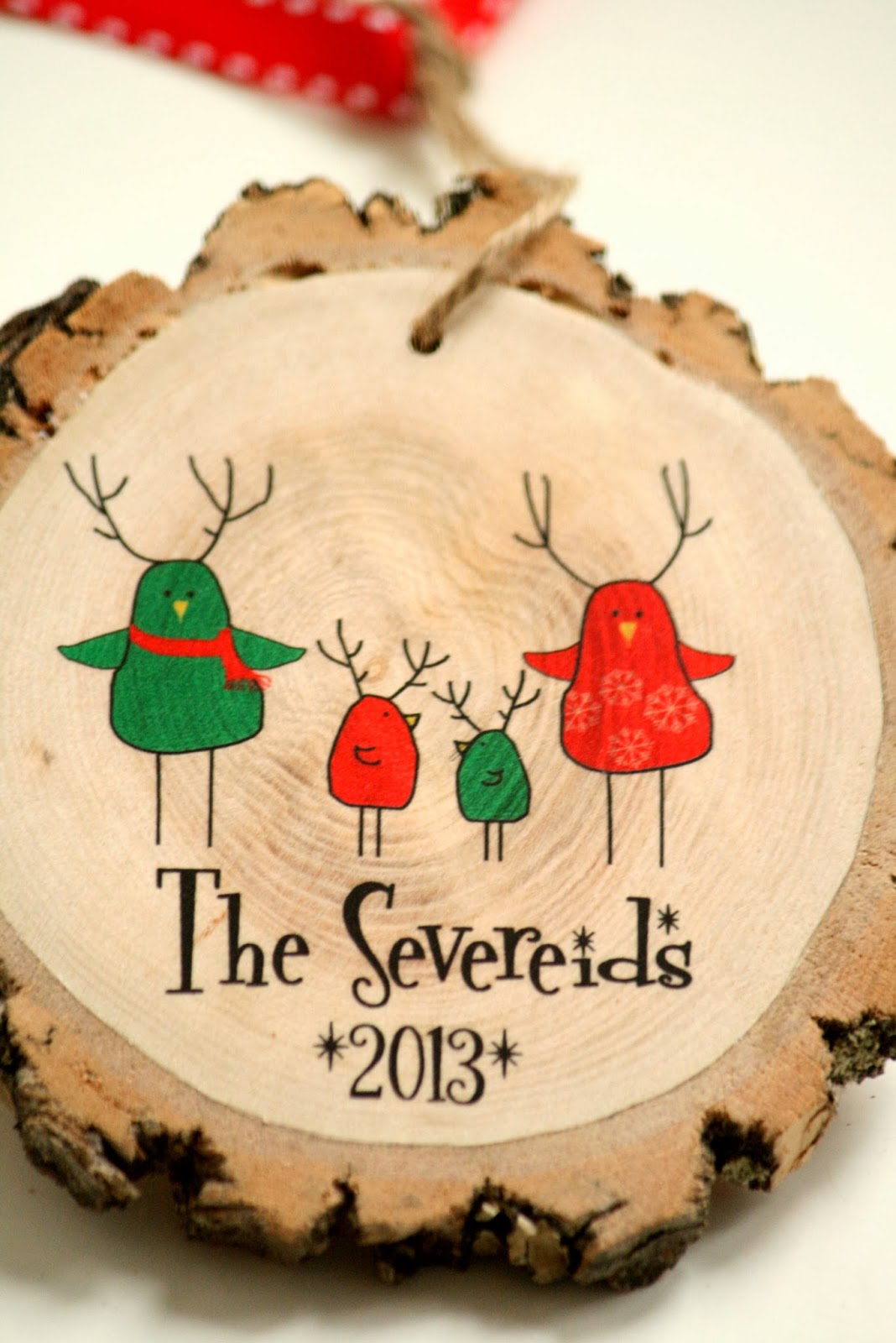 New Modern Family Christmas Ornament - Wooded Christmas ...