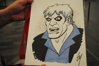 Ty Templeton Solomon Grundy commission. Photo credit: Mark Belkin