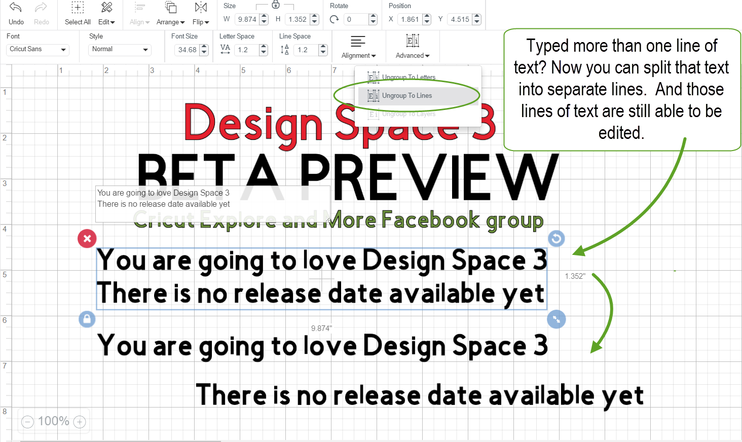 The NonCrafty Crafter Cricut Design Space  Beta Previews