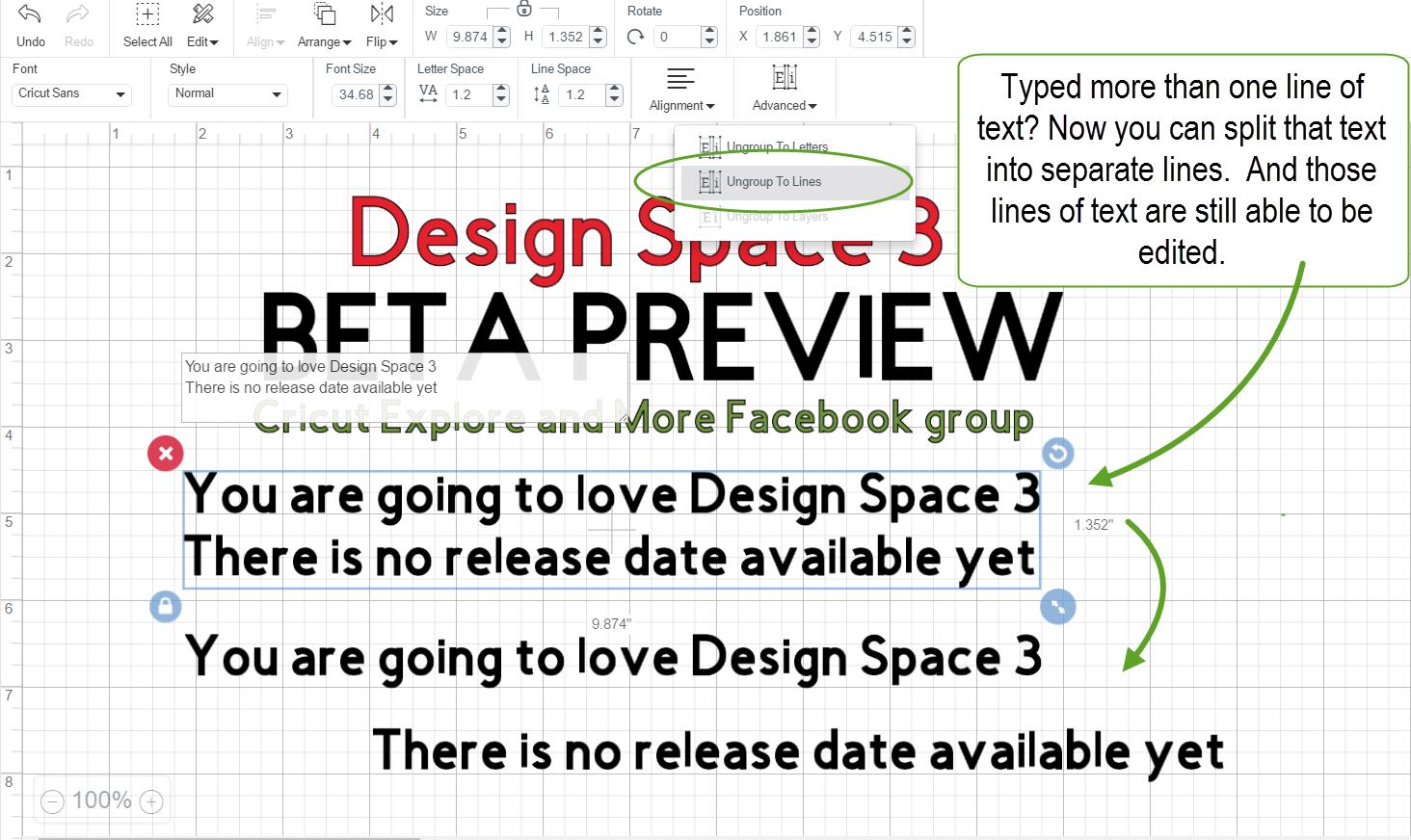 The NonCrafty Crafter Cricut Design Space  Beta Previews