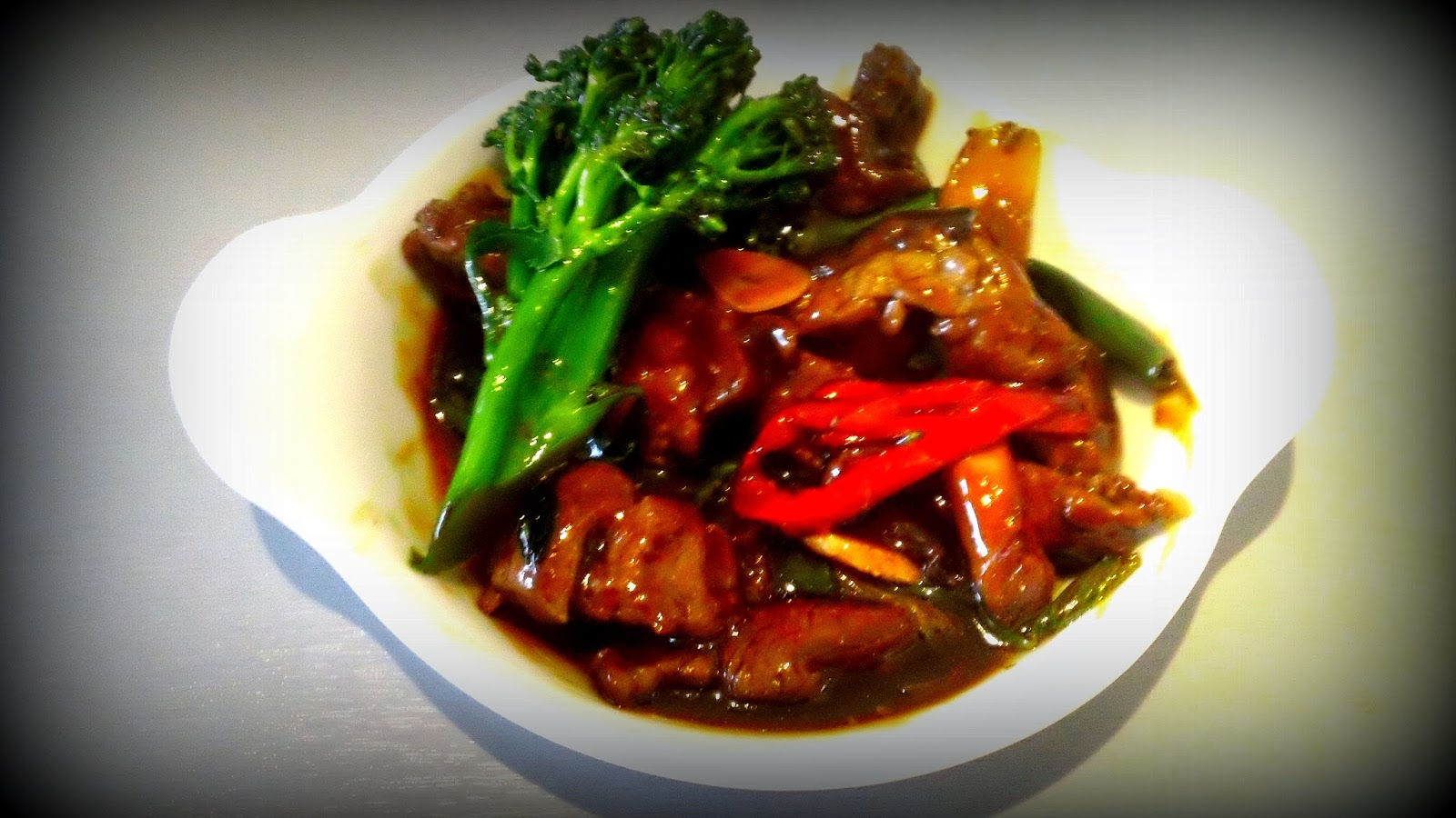 Beef, ginger and spring onion, Ozweri Wok, Stir Fry, Chinese food at home
