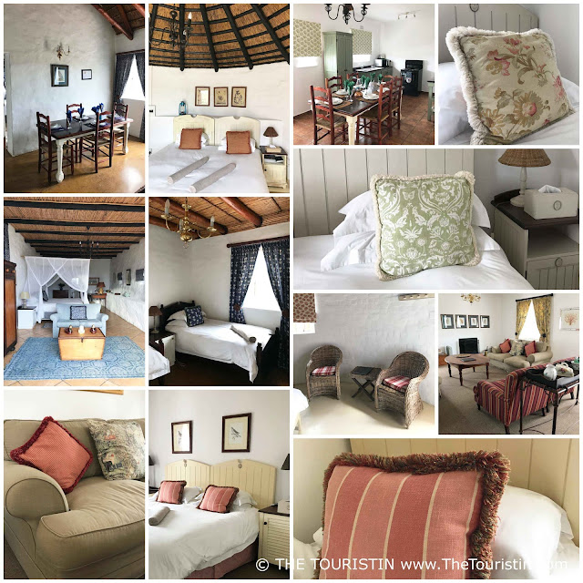 Country style interior design in the cottages and suites at the De Hoop Nature Reserve