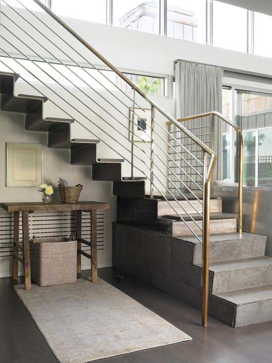 30 Desain Tangga Rumah Bentuk-L Paling Populer - Rumahku Unik