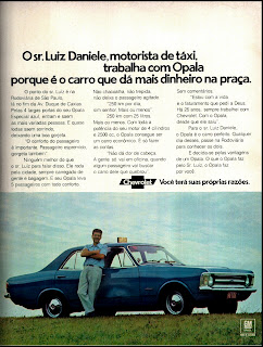 propaganda Chevrolet Opala - 1973. 1972; brazilian advertising cars in the 70s; os anos 70; história da década de 70; Brazil in the 70s; propaganda carros anos 70; Oswaldo Hernandez;