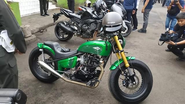 Intip Ubahan Motor Kawasaki W175 Milik Jokowi