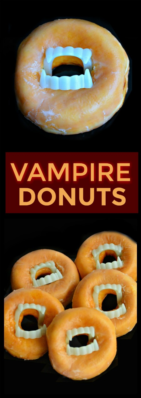VAMPIRE DONUTS:  Great for class parties! (Fast & easy for mom!)