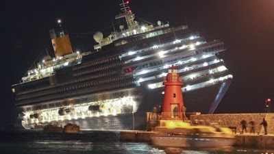 Costa Concordia Upright