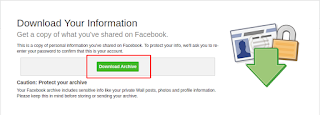 download archive file facebook