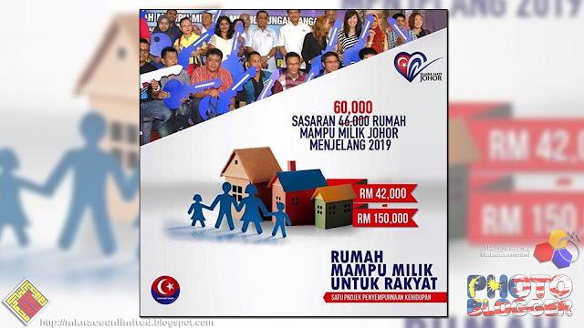 Sasaran 60,000 unit Rumah Mampu Milik Johor 2019